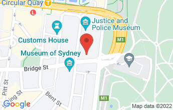 Map of 117 Macquarie Street, Sydney 2000 Australia
