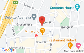 Map of Bouche On Bridge, 6 Bridge St, Sydney NSW 2000