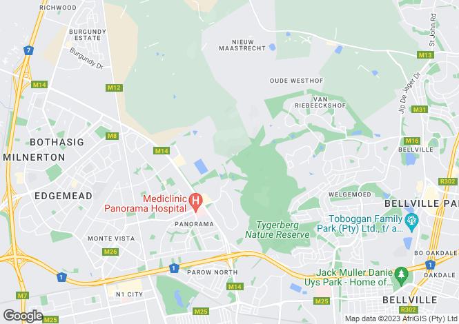 Map for 4 Heide Close, Plattekloof, Cape Town, Western Cape
