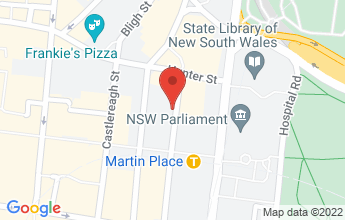 Map of Bond Cafe, 111 Phillip St, Sydney NSW 2000