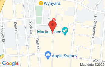 Map of Sydney CBD, NSW, 2000