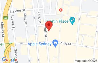 Map of 18-20 York Street, Sydney NSW 2000