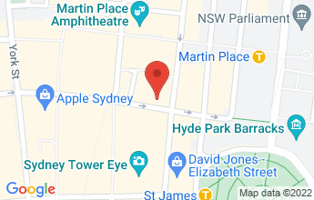 Map of Sydney CBD 2000