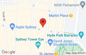 Map of Sydney CBD 2000