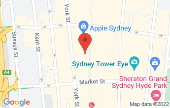 Map of Level 5, 393 George Street, Sydney NSW 2000