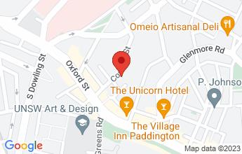Map of Comber Street Studios, 5 Comber St Paddington NSW 2021