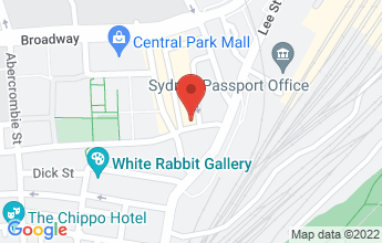 Map of 50 Kensington Street, Chippendale NSW 2008