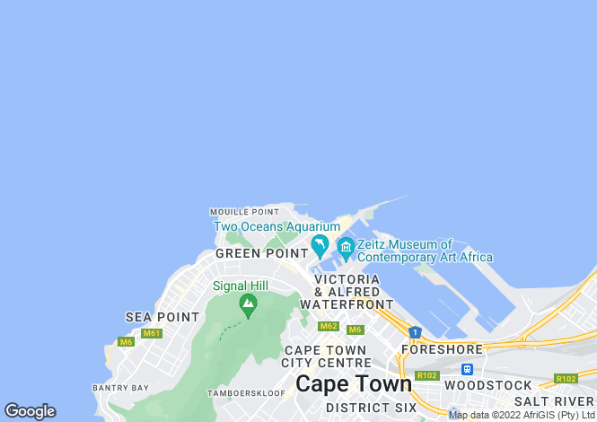Map for Mouille Point, Cape Town, Western Cape