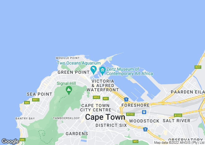 Map for Paragon, Waterfront, Cape Town