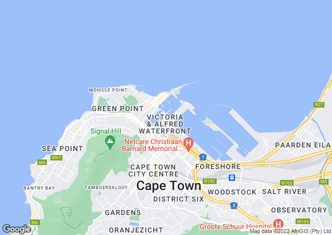 Map for V&A Waterfront, Cape Town, Western Cape