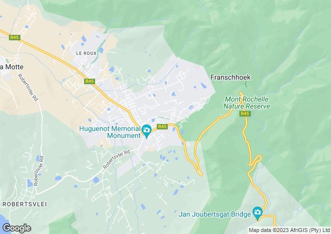 Map for 15 Serruria, Fransche Hoek Estate, Franschhoek, Western Cape