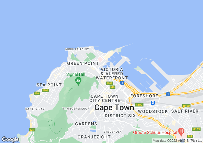 Map for Dock Road, V&A Waterfront, Cape Town, Western Cape