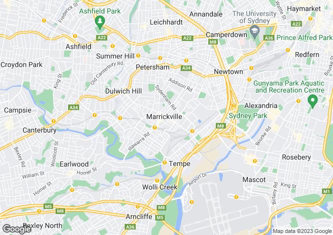 Map for Lot 1 91 Fitzroy Street, MARRICKVILLE 2204