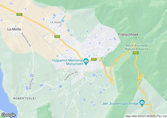 Map for 59 Reservoir Street, Franschhoek, Western Cape