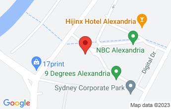 Map of Bldg 7, 190 Bourke Road, Alexandria