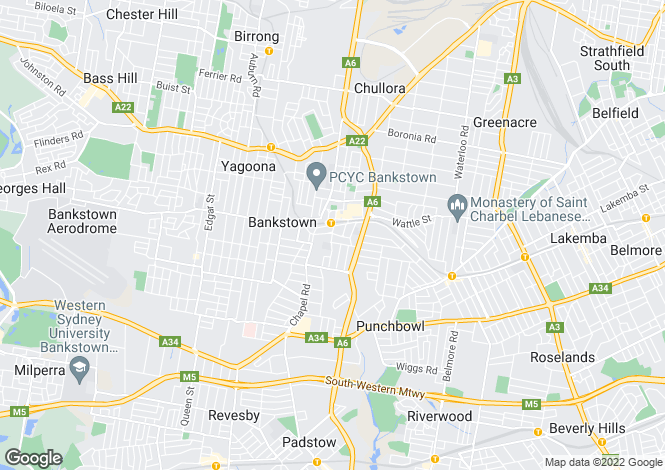 Map for 7/165 Chapel Rd (south), BANKSTOWN 2200