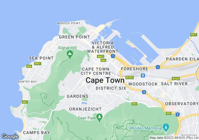 Map for CBD, Cape Town, Western Cape