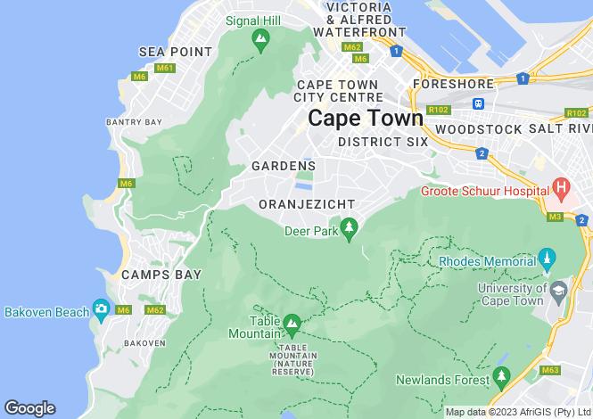 Map for 6 Marmion Road, Oranjezicht, Cape Town, Western Cape