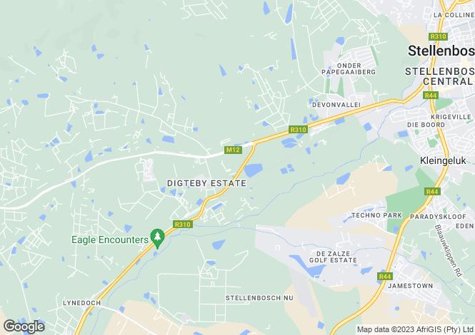 Map for Klein Moerbei Estate, Portion 22 Of Farm 468, Western Cape