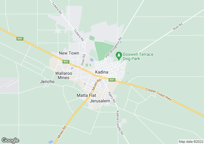 Map for 2 Ewing Street, KADINA 5554