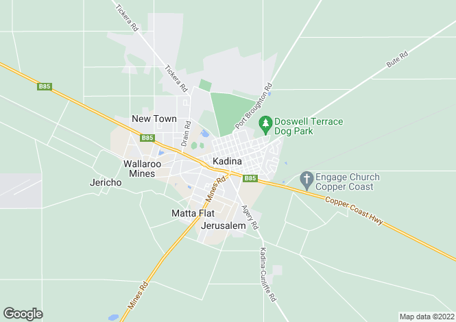 Map for Allotment Magazine Road, KADINA 5554