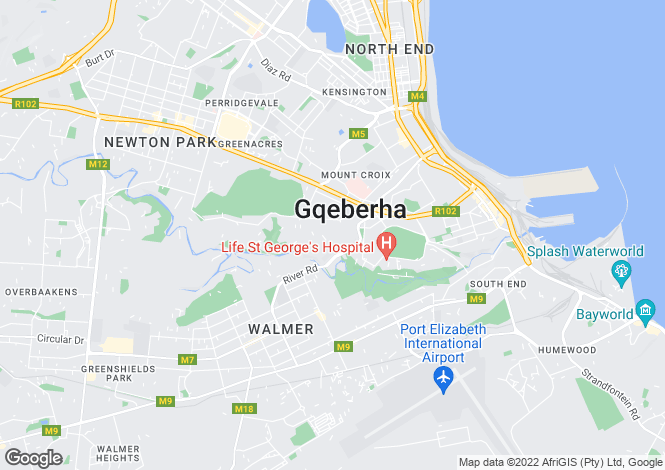 Map for 1 Wembley Road, Mill Park, Port Elizabeth, Eastern Cape