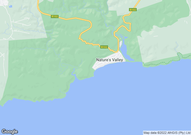 Map for Natures Valley, Plettenberg Bay, Garden Route, Western Cape