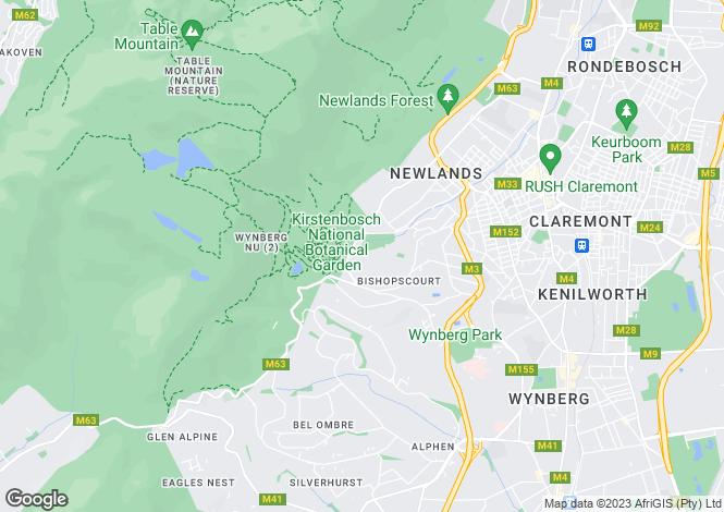 Map for Bishopscourt Drive, Bishopscourt