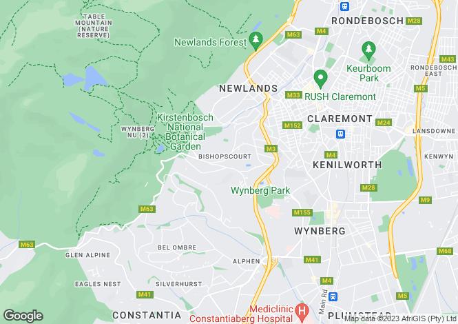 Map for 15 Gemini Way, Constantia Upper, Cape Town, Western Cape