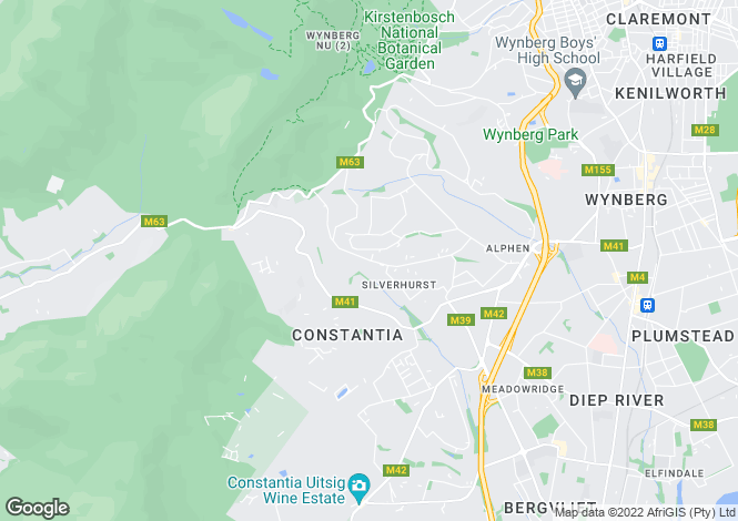 Map for 79 Southern Cross Drive, Constantia Upper, Cape Town, Western Cape