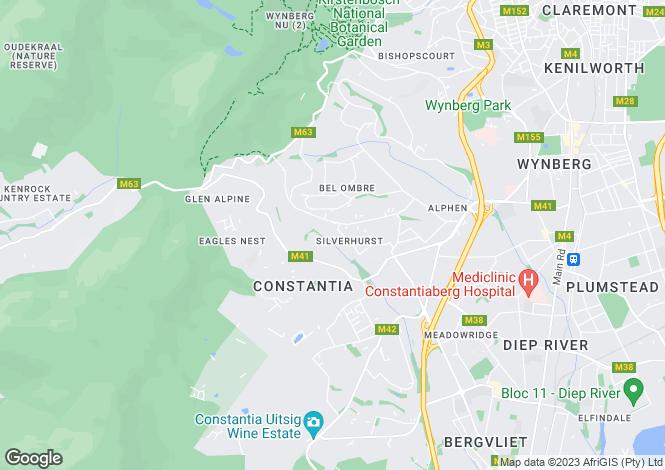 Map for 3 The Avenue, Silverhurst Estate, Constantia Upper, Western Cape