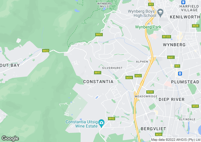Map for Guinea Fowl, Silverhurst Estate, Constantia, Western Cape