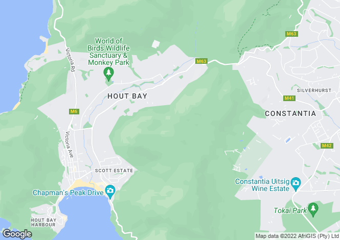 Map for Hout Bay, Western Cape