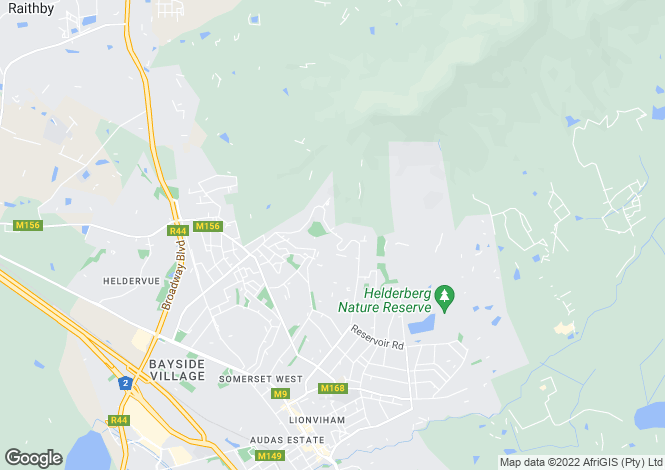 Map for Silvertree Heights, Spanish Farm, Somerset West, Western Cape