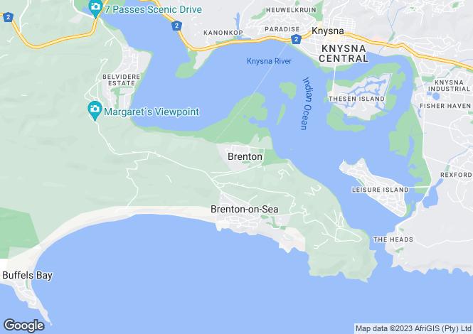Map for 348 Dolphin Avenue, Brenton-On-Lake, Knysna, Western Cape