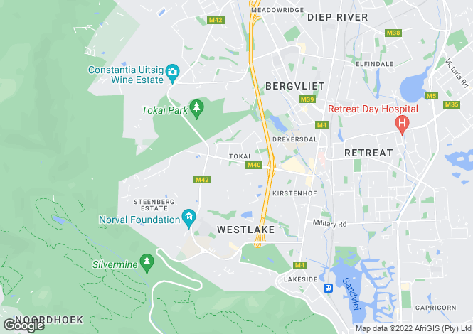 Map for 12 Forest Avenue, Tokai, Cape Town, Western Cape