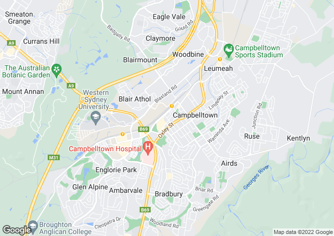 Map for CAMPBELLTOWN 2560