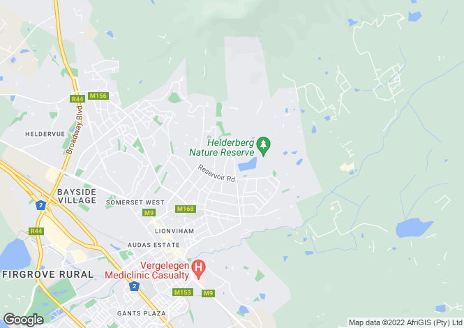Map for Golden Hill, Somerset West, Western Cape