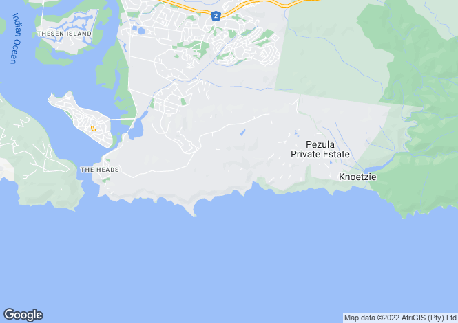 Map for 30 Martingale Road, Pezula Golf Estate, Knysna