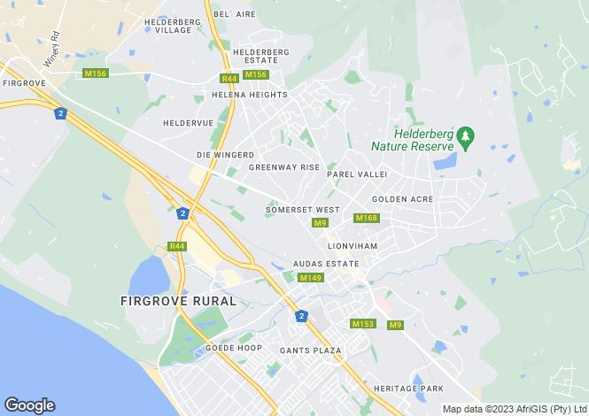 Map for Kalamunda Lodge, 26 Meadow Lane, Somerset West, Western Cape