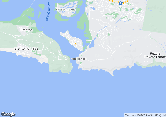 Map for 2 Paquita Crescent, The Heads, Knysna, Western Cape