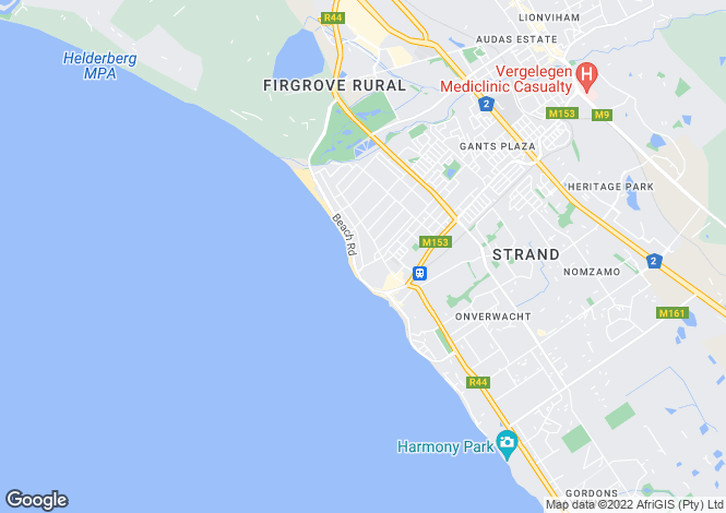 Map for Strand, Western Cape