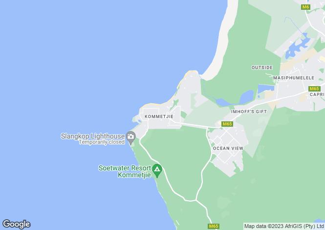 Map for 18 Duiker Drive, Kommetjie, Western Cape