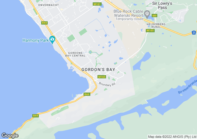 Map for Western Cape, Gordon`s Bay