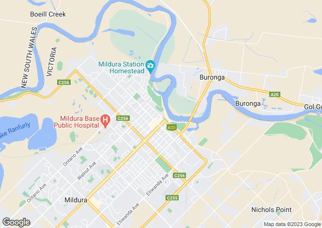 Map for 24 Adam Street, Mildura 3500