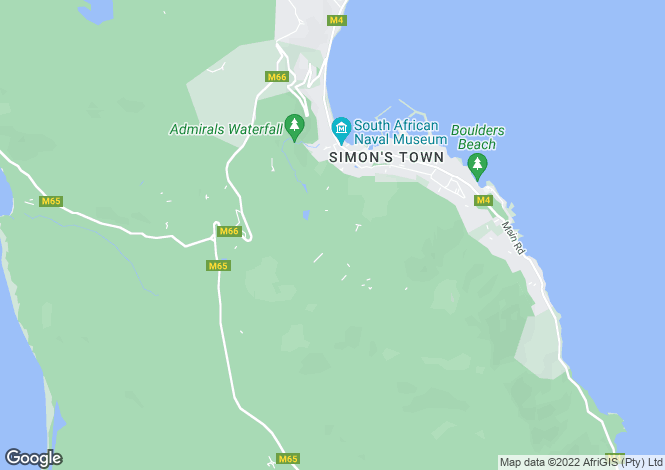 Map for Western Cape, Simon`s Town