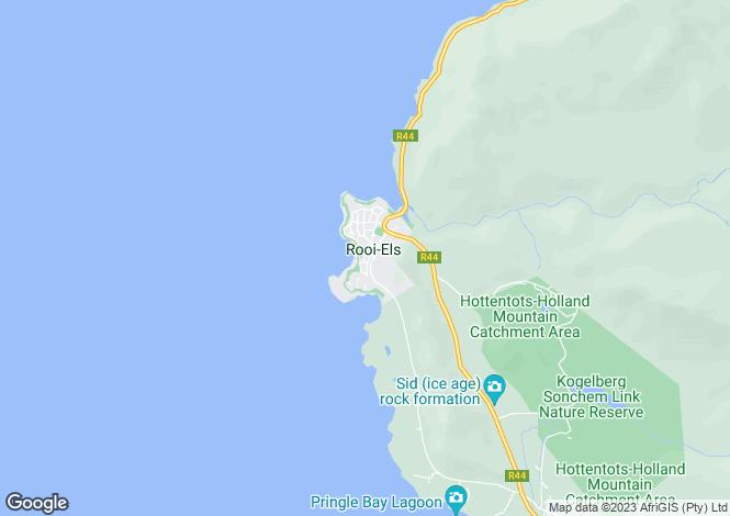 Map for 216 Harveya Road, Rooi Els, Western Cape