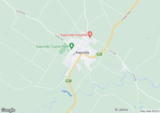 Map for Lot 592 Hawkers Creek Road, KAPUNDA 5373
