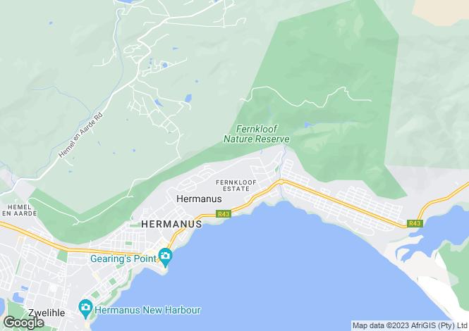 Map for 25 Hillside Village, Fernkloof Estate, Hermanus, Western Cape