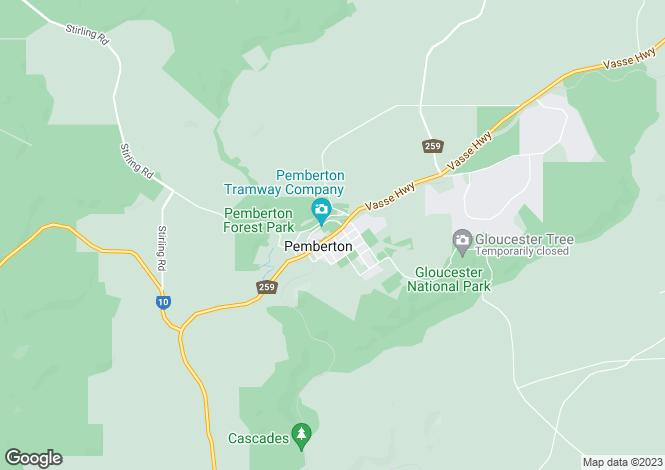 Map for Lot 11 Roberts Road (Yeagarup), PEMBERTON 6260